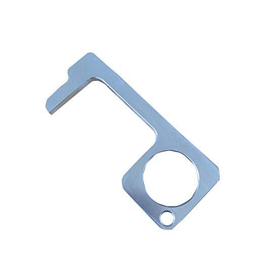 Ruier-tong Abridor de Puerta de Mano sin Contacto Gancho de Bucle multiprop/ósito de Aluminio Stylus Keychain Tool Higiene Hand EDC Keychain