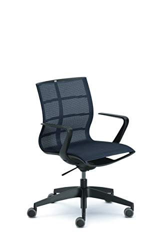 Sedus se:joy Bürostuhl, Drehstuhl, Konferenzstuhl, Designstuhl, Schreibtischstuhl Schwarz 86 x 78 x 99 cm