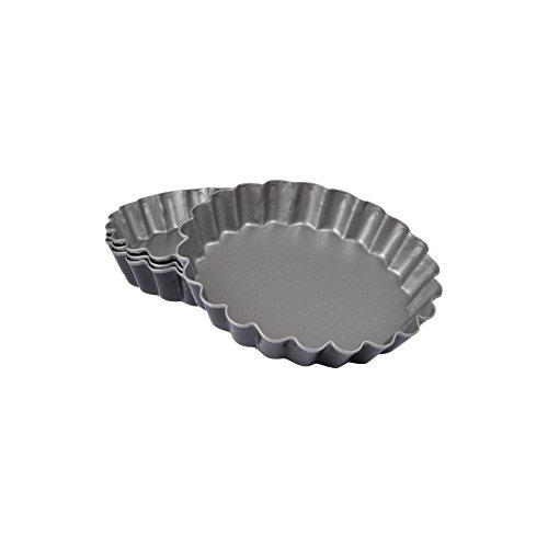 CAP DELICES 6moul261Stampo per crostatine, X 4scanalati Metallo Grigio 12x 12x 2,1cm