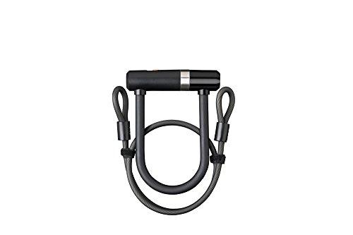 AXA Unisex Newton U fiets beugelslot, zwart, 150 mm x 14 mm