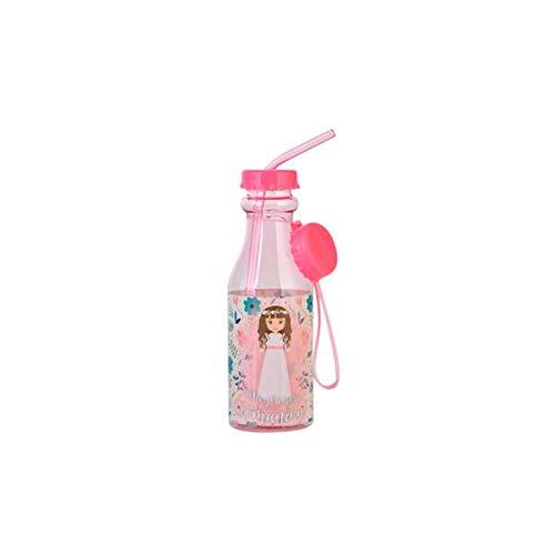 Lote de 20 Botellas PVC Comunión NIÑA ROSA 500 ml - Detalles y regalos para Bodas, Comuniones, Cumpleaños y Bautizos