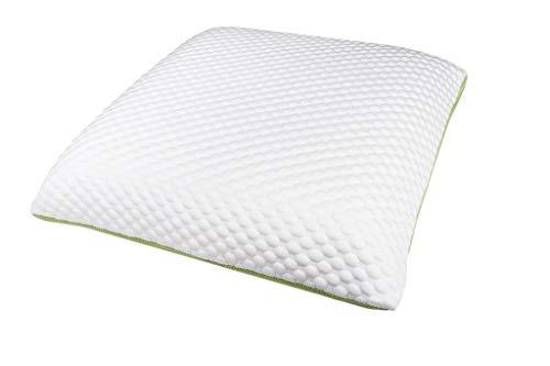 Zwoong Gelpur - Almohada de látex natural para dormir de lado, antialérgica, transpirable, 60 x 60 cm, color blanco