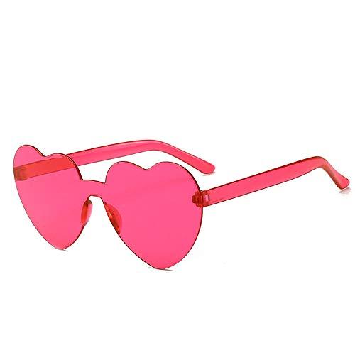 Sonnenbrille Retro Liebe Übergroße Sonnenbrille Frauen Vintage Herz Brille Rosa Frauen Sonnenbrille Eyewear-Rose_Red