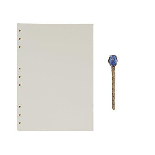 B5 9-Ring Binder Planer Refill Papier für Tagebuch Notizbuch Ringbuch Reisetagebuch Blanko Papier Nachfüllpapier Notizpapier Ersatzblätter Büro Schule Schreiben (100 Blätter)