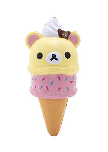 "Rilakkuma by San-X - Korilakkuma Meets Ice Cream Slow Rising Squishy Authentic Licensed Product – 7"" Tall"