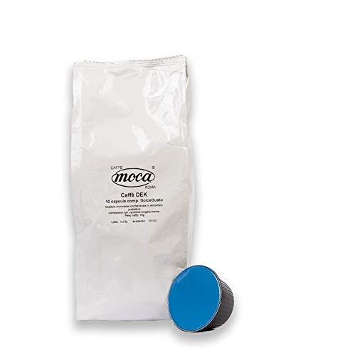 Caffè Moca - Capsule Compatibili Nescafè Dolce Gusto Decaffeinato - Confezione da 100 Capsule