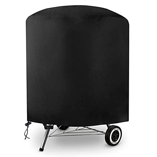 Tvird Funda para Barbacoa Redonda Impermeable, Cubierta para Barbacoa 300D Oxford 75 x 70cm,Protector para Barbacoa Anti-Viento/UV/Impermeabilidad,con Cuerda de Bloqueo
