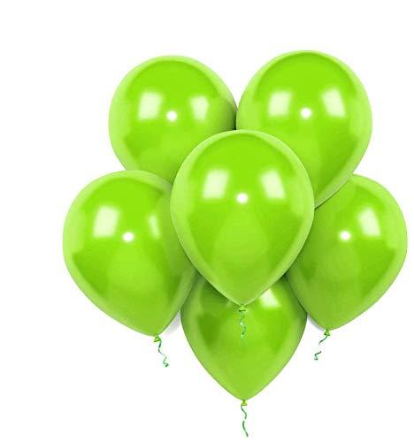 Lime Latex Balloons, 12-Inch,320-g,Light Green (100 Pack)