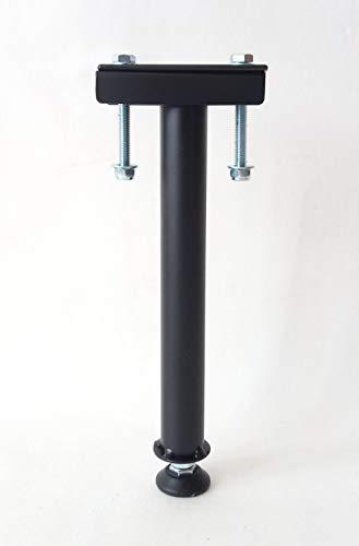 Pie de cama central / pie de refuerzo / pie de apoyo para somier   Altura: de 28 a 31 cm – Negro (PC300R)