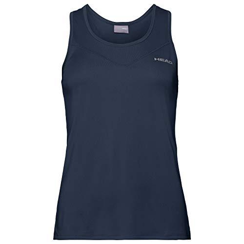 Head Camiseta sin Mangas Easy Court para Mujer, Azul Oscuro, pequeño