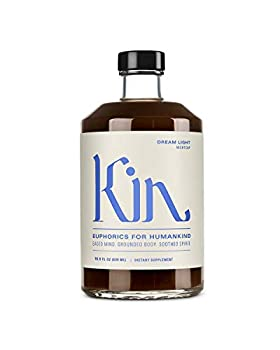 Dream Light by Kin Euphorics Non Alcoholic Spirits Nootropic Botanic Adaptogen Drink Earthy Oak Smoky Clove and Spicy Cinnamon Soothe The Spirit and Quiet The Mind 16.9 Fl Oz