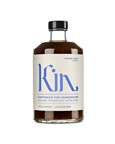 Dream Light by Kin Euphorics, Non Alcoholic Spirits, Nootropic, Botanic, Adaptogen Drink, Earthy Oak, Smoky Clove and Spicy Cinnamon, Soothe the Spirit and Quiet the Mind, 16.9 Fl Oz