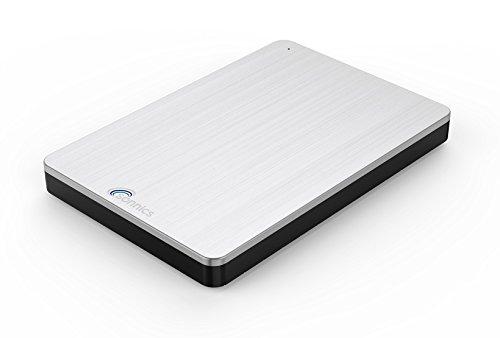 Sonnics 320GB Silber Externe tragbare Festplatte USB 3.0 super schnelle Übertragungsgeschwindigkeit für den Einsatz mit Windows PC,Mac, XBOX ONE und PS4 Fat32