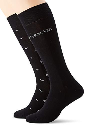 Emporio Armani Underwear Herren Short  3er pack  Socken, Schwarz (Nero 00020), One Size (Herstellergröße: TU)
