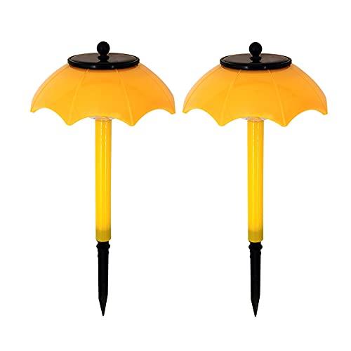 Luces solares de jardín al aire libre, luces de hadas solares, paraguas de jardín impermeable LED colorido lámpara (amarillo)