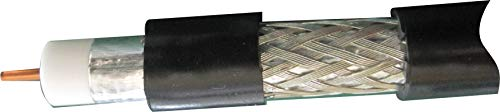 二幸電気工業/NDK 【JIS規格認定品/4K/8K対応】衛星受信テレビジョン用7C同軸ケーブル(100m巻)S-7C-FB-JBK(ケーブルカラー:黒)ビル・マンションでの共聴システム工事で使える・外被も柔かく取り回しに最適