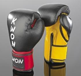 KWON Boxhandschuh / KO Champ - schwarz-rot | 12oz