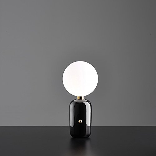Yilingqi-1 glazen bol tafellamp Moderne minimalistische slaapkamer bedlampje 11 * 38cm