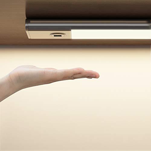 SOAIY 30cm Luz bajo mueble cocina con sensor movimiento de la mano, Iluminacion ajustable led cocina bajo mueble, luz cocina bajo armario...