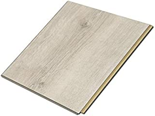 Cali Bamboo - Cali Vinyl Plus Cork-Backed Vinyl Floor, Extra Wide, White Aspen Wood Grain - Sample Size 5-3/4