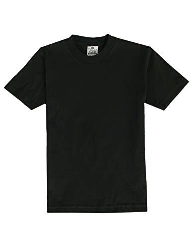 Pro Club Boy's Short Sleeve T-Shirt, Black, Small Black Youth Heavyweight T-shirt