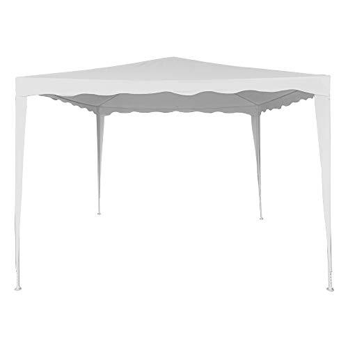 Aktive 62186 - Cenador blanco para jardín poliéster 300 x 300 x 250