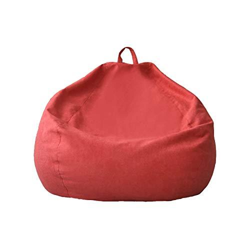 WSCQ Copridivano Pigro Creativo,Fodere da Divano in Lino Copri Bean Bag Pouf Sedia da Gaming Bean Bag Reclinabile Pouf Cover Senza Riempire,Arancia,110 * 120cm
