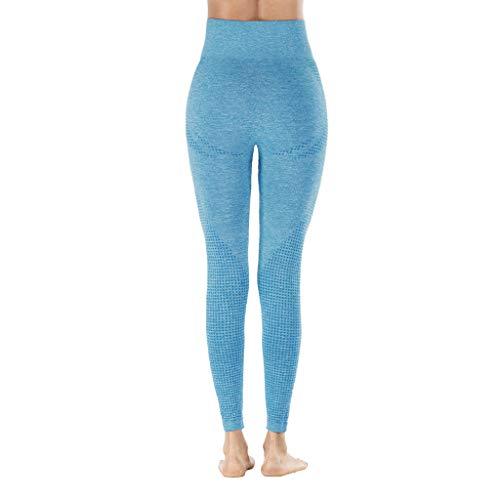OPALLEY Damen Sporthose Streifen Freizeithose Jogging Hose Traininghose Fitness High Waist Lang Baumwolle