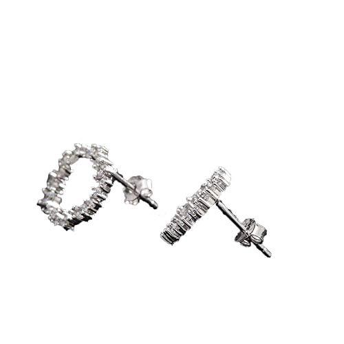 Sterling zilveren oorbellen, s925 sterling zilveren oorbellen, Ronde Clear Zirkoon Stud Oorbellen voor gevoelige oren priercing