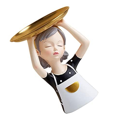 YARNOW de Joyería Organizador de Baratija Acentos Bandeja de Servicio Soporte de Pastel de Resina Soporte Redondo de Postre Cupcake para Pendientes de Llave Pulseras Collar