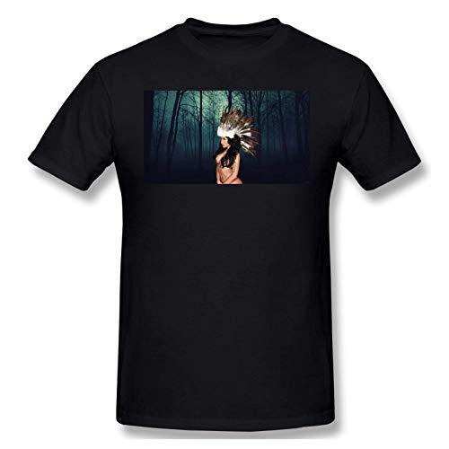 IUBBKI Herren Basic Kurzarm T-Shirt Men's Print with Nicki Minaj Fashion Short Sleeve T-Shirt