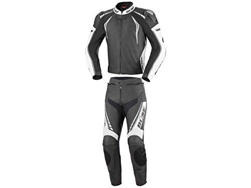 Büse Silverstone Pro 2-Teiler Damen Motorrad Lederkombi Schwarz/Weiß 36
