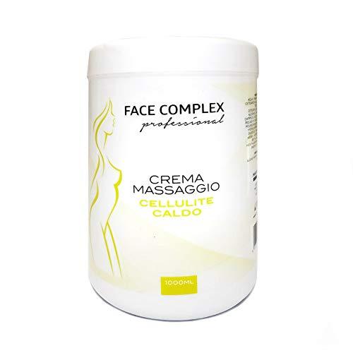 Crema de Masaje Profesional Anti-Celulitis 1000ml, Crema en Caliente anticelulítica para masaje efecto Nutriente y Calmante