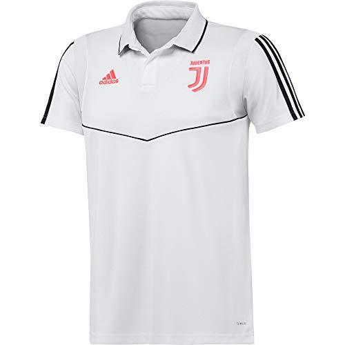 adidas Juventus Cotton, Polo A Maniche Corte Uomo, Bianco/Nero, L