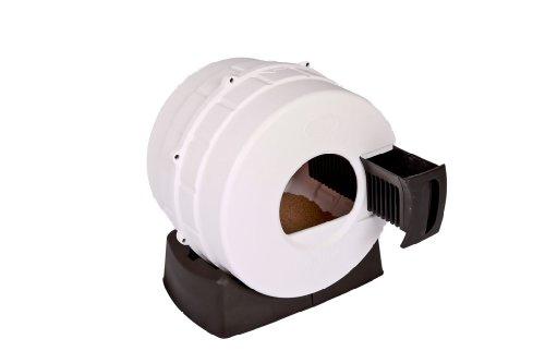 Litter Spinner Quick Clean Cat Litter Box, White