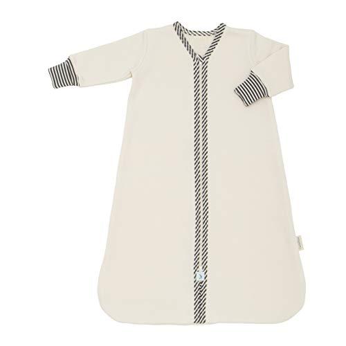 CastleWare Baby- Sleeper Bag - Organic Cotton Fleece - Long Sleeve - Newborn- 4 Years (3T, Charcoal Grey Stripe)