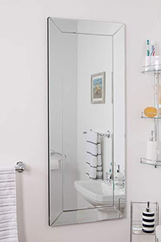 Espejo para vestidor y Pasillo de Longitud Completa, Color Negro Brillante Premium.