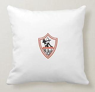 Tranded - Football Team - Zamalek SC وسادة مربعة بيضاء 40 × 40 سم QD-PI-0231 QD-PI-0231