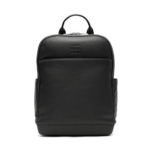 Moleskine - Classic Pro Backpack in Pelle, Zaino Professionale da Ufficio, Zaino Porta Pc per Laptop, iPad, Notebook fino a 15'', Zainetto da Lavoro per Uomo, Dimensioni 43 x 33 x 14 cm, Colore Nero