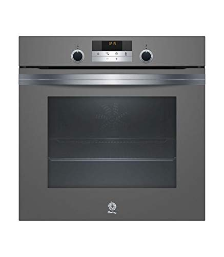 Horno BALAY MULTIFUNCION ENCASTRABLE 60 CM 71 L Cristal Gris Antracita A, Ap ABATIBLE PIROLISIS Y AQUALISIS