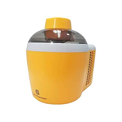Ice Cream Maker Machine Self-Freezing System 1.5 Pint 90W Energy-saving Motor See-through Lid K45559CO2000 (Renewed) (Orange)