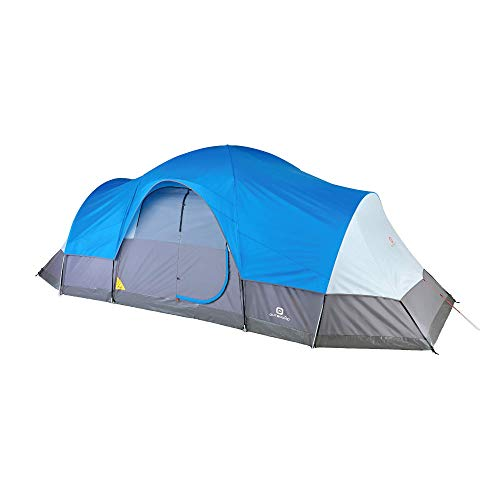 Outbound 12-Person Dome Tent for Camping with Carry Bag and Rainfly | Perfect for Backpacking or The Beach | Blue