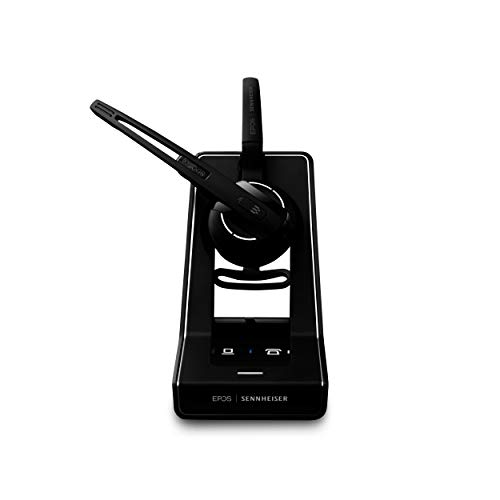 Sennheiser SD Office ML (506009) - Single-Sided DECT Wireless Headset for Desk Phone and Skype for Business Connection, Noise-Cancelling Microphone, Multiple Wearing Styles (Black)