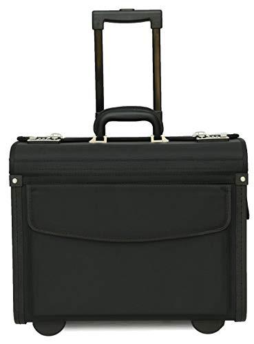 "Tassia - borsa pilota con rotelle - scomparto laptop 16"" - nylon 1680D"