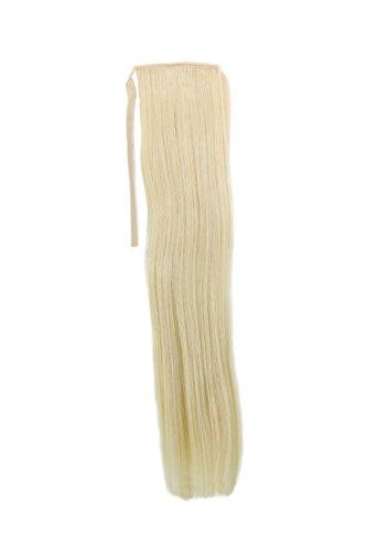 Postiche, queue étroite, queue de côté, Cosplay, blond platine – clair, lisse 18inch/ 45cm YZF-TS18-88 Band Extension capillaire à pince
