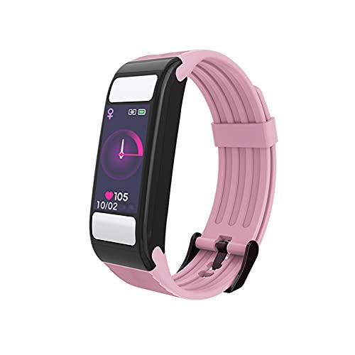 PYAIXF Pulsera Actividad Inteligente, 0,96 Pulgadas Monitor De Pulso Cardiaco Rastreador De Fitness Rastreador De Actividad Infantil Señoras Hombres Llama Mensaje Corto Batería De 7 Días-Pink