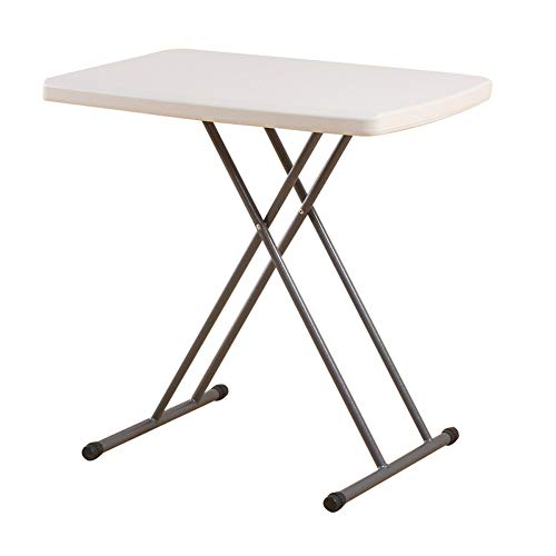 ALVEN Folding Snack Table, Small Laptop Table Coffee Table Height Adjustable Bistro Patio Garden Balcony Outdoor Furniture 30 X 19.6 X 29.5 In,White