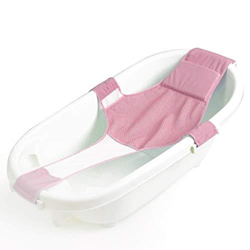 IWILCS Badewannensitz Baby, kreuzförmig Badewanne Unterstützung Badezubehör antirutsch für Neugeborenen oder Kleinkind (pink)