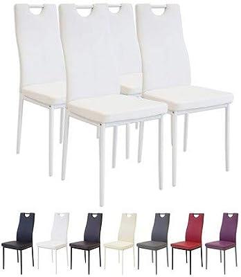 Albatros Milano - Set de 4 sillas de Comedor, Estructura ...