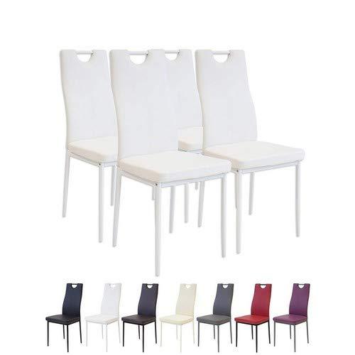 Albatros 2908 Salerno Set de 4 sillas de Comedor, Blanco